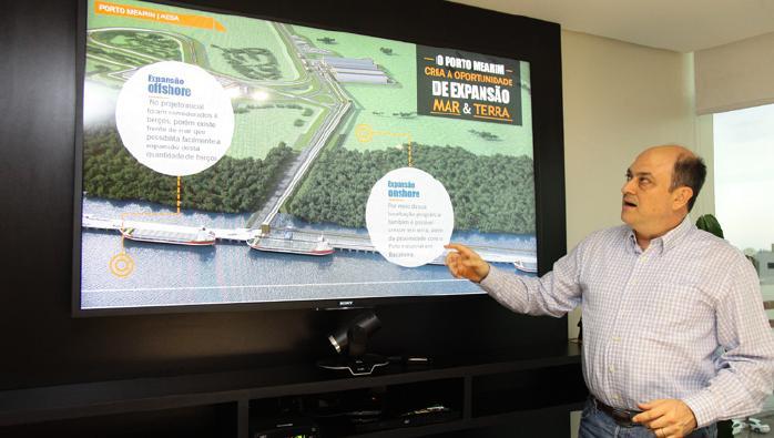 Daniel Vinent, diretor de Planejamento do Porto Mearim, detalhou o empreendimento (Foto: Biné Morais)