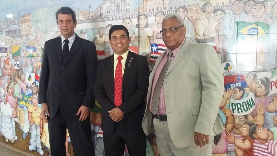 Diretor do Sama, Tufi Maluf Saad; deputado Wellington do Curso e presidente do Sama, Mozart Baldez