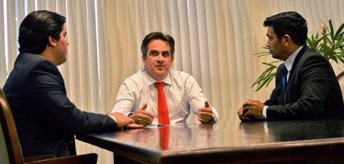 Fufuca e Wellington com senador Ciro Nogueira: comando do PP garantido