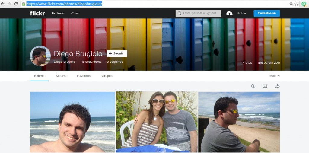 As fotos usadas para criar o fake foram extraídas de site que partilha imagens fotográficas. A pessoal do perfil original foi identificada por Diego Brugiolo.