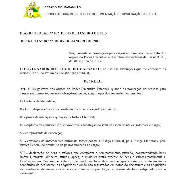 Flávio Dino editou decreto tentando impedir nepotismo em seu governo, mas não conseguiu.