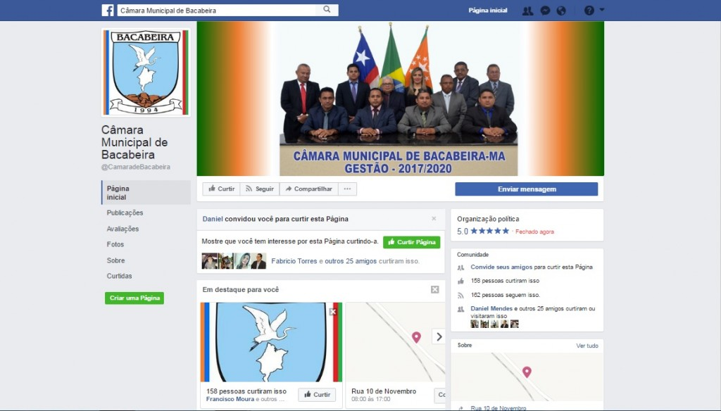 Redes sociais vão aproximar os cidadãos da Câmara de Bacabeira.
