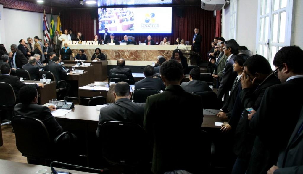 Plenário da Câmara Municipal que vota hoje o código tributário (Foto: Biné Morais / O ESTADO)