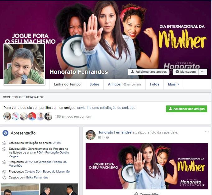 No Dia Internacional da Mulher, Honorato Fernandes lança campanha para elas