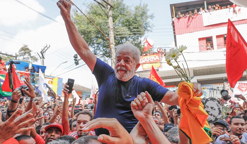 Preso no último dia 7, após ser condenado pelo TRF4, Lula pode não ser elegível. (Ricardo Stuckert)