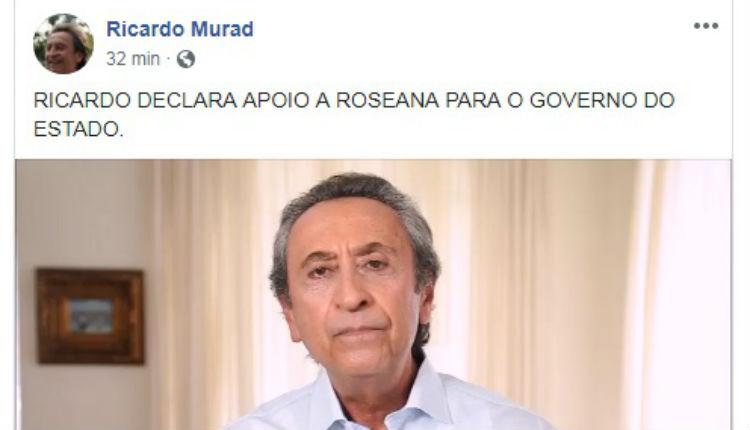 Ricardo Murad abdica de pré-candidatura (Reprodução)