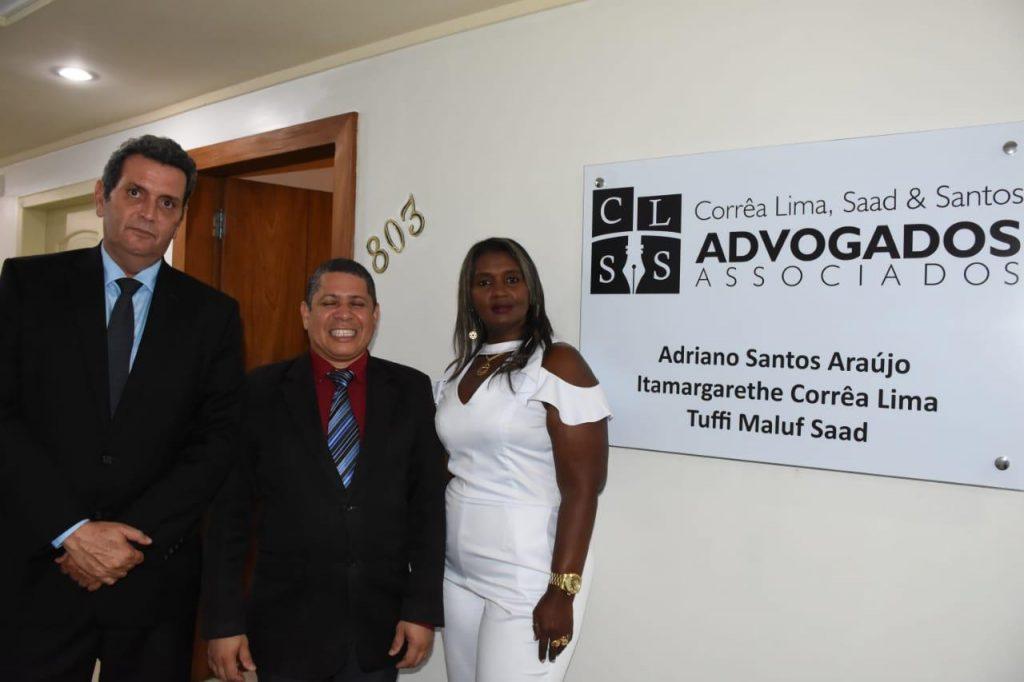 Os sócios Tufi Maluf Saad, Adriano Santos e Itamargarethe Corrêa Lima